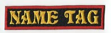 "Bikers Custom Name Tag Embroidery Sew on Patch 4"" x .75"""