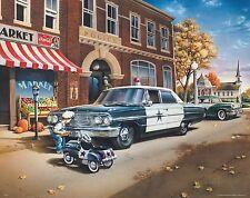 Law Enforcement Poster Art Print Police Car Badge Patch Swat Cop 11x14 MVP335