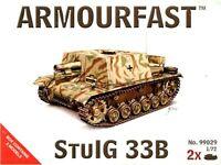 ARMOURFAST 99029 WWII German StuIG 33B Tanks 2 Model Kit 1/72 AIRFIX FREE SHIP