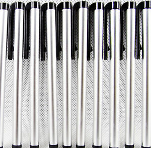 10 x Silver Metal Screen Stylus Touch Pen For Samsung S7 S6 Note 5 4 A5 iphone 7