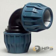 PE Rohr Winkel Verschraubung in versch. Größen, DVGW Trinkwasser