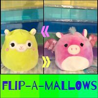 "NWT Flip-a-mallows Squishmallows Kellytoy 5"" Kimberly Willow Llama Pegasus Plush"