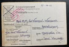 1944 Germany Stalag 12D POW Prisoner of War Postcard Cover To Groningen Holland