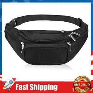 Fanny Pack 5-Zipper Pockets Nylon Waist Bag for Yoga Gym Workout Sport & Travel