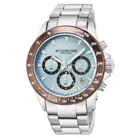 Stuhrling 3960 7 Quartz Chronograph Date Stainless Steel Bracelet Mens Watch