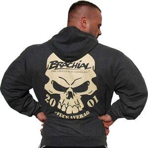 Brachial Hoody Shatter dunkelgraumeliert darkgreymelonge Bodybuilding Fitness