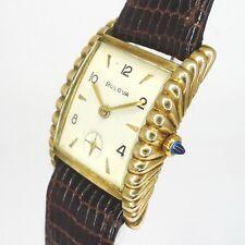 Bulova Art Deco Design double Herren Armbanduhr aus den 1930er Jahren