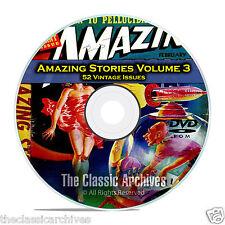 Amazing Stories Vol 3, 52 Vintage Pulp Magazine, Fiction, Hugo Gernsbeck DVD C33