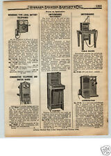 1922 PAPER AD 2 Sided Telephone Phone Switchboard Portable Mine Miners' Magneto