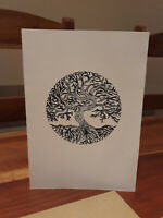World Tree Gift Card (Tree of Life) - Hand Crafted with Bespoke Design (Pagan)