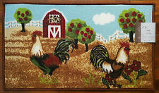 NWT FARM COUNTRY ROOSTERS KITCHEN AREA RUG FLOOR DECOR DOOR FLORAL MAT 18x30