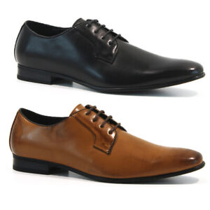 MENS NEW FAUX LEATHER SHOES SMART WEDDING ITALIAN FORMAL OFFICE DRESS WORK SIZE