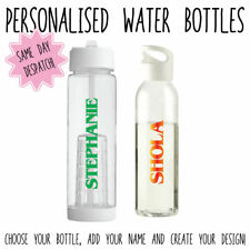 PERSONALISED COLOURFUL STRANGER THINGS THEMED WATER BOTTLES GIFT KIDS SPORTS