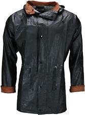 Mens Waterproof Jacket Rain Coat Festival Outdoor Hooded Lightweight Corduroy