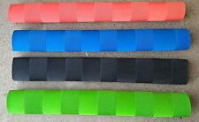 4x CHEVRON Cricket Bat Grips - FLURO GREEN, RED, BLUE & BLACK