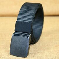 Men Nylon Military Tactical Webbing Canvas Outdoor Web Belt with Plastic Buckle
