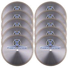 """10Pk 10"""" Porcelain Tile Blade Continuous Rim Wet Application- Porcelain Supreme"""