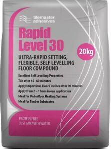 Rapid Level 30 Ultra-Rapid Setting Flexible Self Levelling Floor Compound x 15