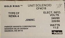 Parker Cf4c15unit Solenoid11 W 240220vtype Cfnema4j0909cnewfree Shipping