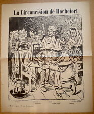 La Circoncision de Rochefort. Judaica. Antisemitisme. Zola. Dreyfus. Vers 1898