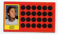 1981 Topps #8 TONY PEREZ Boston Red Sox Puerto Rico UNSCRATCHED SCRATCH OFF CARD