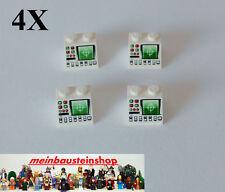 4X Lego® 46097, 3039, Dachstein 2X2 bedruckt, Radar No2, White, Weiß, 3039pb041