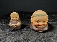 VTG Goebel Hummel Friar Tuck Monks Salt Shaker & Head For Sugar Container Used