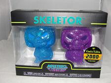 """Funko Hikari Masters Of The Universe Blue Purple Skeletor 4"""" Vinyl Fig. Set-New"""