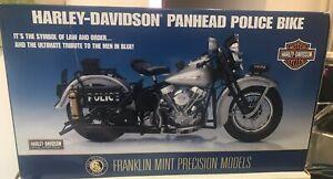 franklin mint harley davidson 1948 Panhead Police Motorcycle 1/10