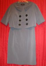 Women's Signature by Robbie Bee 2-Piece Dress Suit With Jacket Gray Size 12P