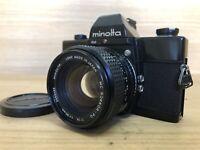 *Near Mint* Minolta SRT 101 Black SLR Camera w/ MC Rokkor 50mm F/1.4 Lens Japan