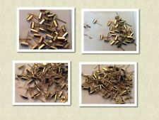 Vintage goldtone earring components Pack of 30 8mm Pierced ears Colour Options