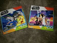 STAR WARS JIGSAW PUZZLE X-WING ASSAULT & CHARACTERS 100 PCS, Lot of 2