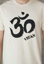 Om Vegano Camiseta Ohm Aum sánscrito Mandala Yoga retro lavado con aspecto envejecido de Mujer Hombre