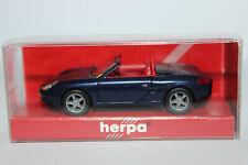 Porsche 911 ( 996 )  Boxster Cabrio dunkelblaumetallic  Herpa  1:87