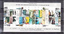ISRAEL 1992 100 years JAFFA-JERUSALEM RAILWAY LINE -TRAIN   S/S MNH