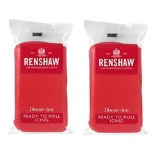 1Kg Renshaw Ready To Roll Icing Fondant Cake Regalice Sugarpaste POPPY RED 1000g
