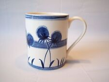 Vintage Hand Painted In Thailand Flower Glass Coffee Mug