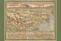 North America Antique Vintage Style Map Poster 12x18 inch