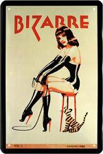 Fetisch Sexy Girl Domina Latex Leder Blechschild 20 x 30 Retro Blech 743