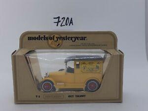 Y5 1927 Talbot CODE 3  Delivery Van Matchbox Models of Yesteryear