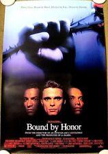 BOUND BY HONOR Original (1993) 27x40 Movie Poster BENJAMIN BRATT MINT CONDITION!