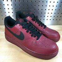 New Nike Air Force 1' 315122-614 Team Red Low Sneakers Shoes Men's Sz 9