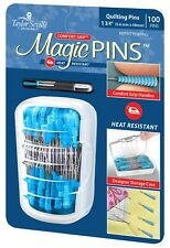 "Taylor Seville Magic Pins 100 Quilting Pins 1 3/4"" ~ Comfort Grip Handle"