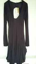 Patrizia Pepe Elegant Dark Purple Vintage gothic Dress sz 44