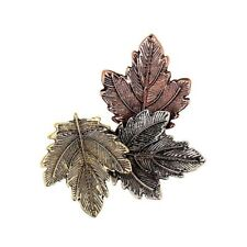Charms Women Vintage Decoration Scarf Alloy Brooches Brooch Pin Three Leaves