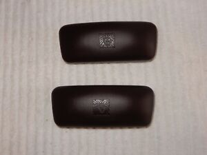 Lot of 2 Anne Klein Hard Cases Sunglasses Eye Glasses Brown Clam Shell Nice!