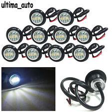 10 24v Perfil Redondo Delante Marcador LED luz blanca luces para MAN DAF SCANIA