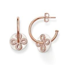 30% OFF SALE! Genuine Thomas Sabo S/Sil Rose Plates CZ MOP earrings RRP $449