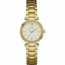 Guess Orologio Watch Woman Uhr Acciaio Dorato Park Ave South Gold W0767L2 Strass